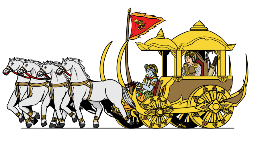 Chariot drawing rath. Collection of free chariotee