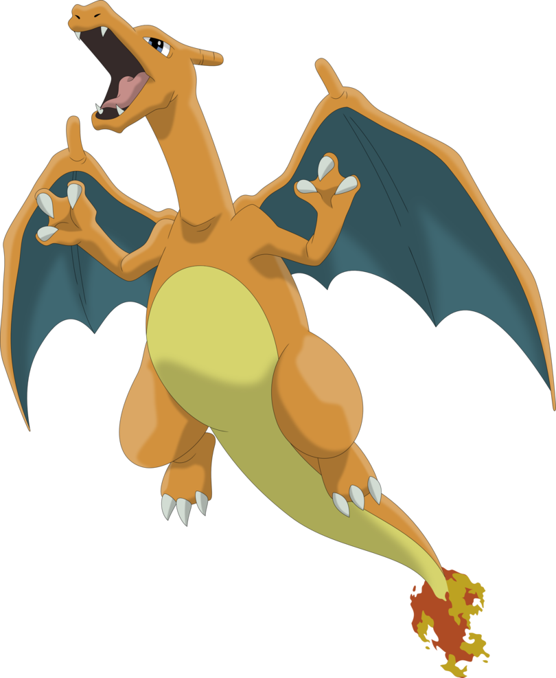 Charizard vector transparent background. By porygon z on
