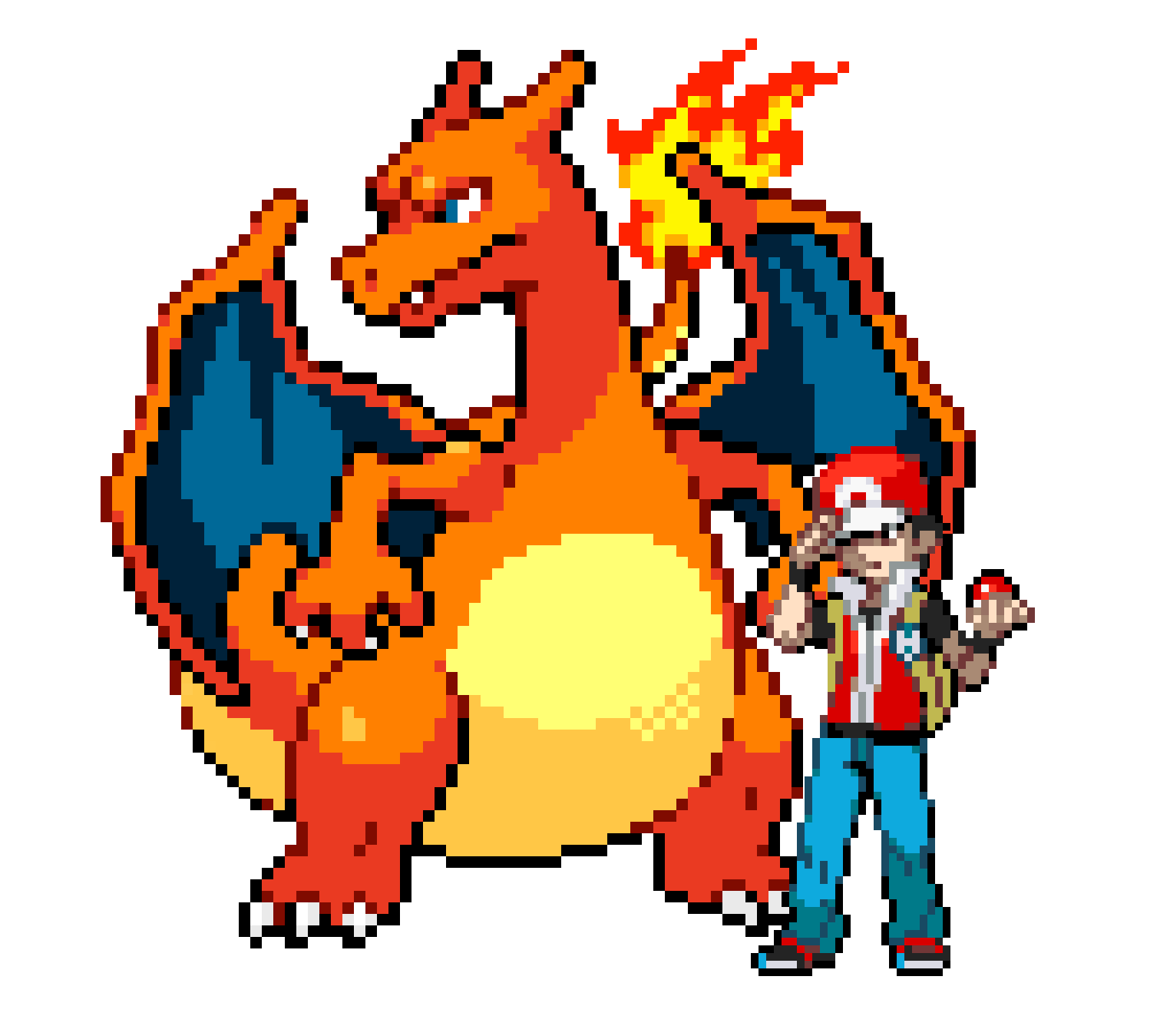 Image red his death. Charizard sprite png jpg black and white library