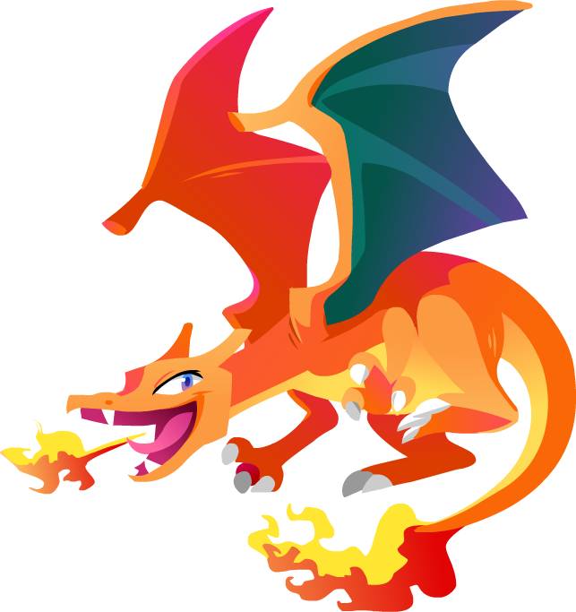 charmander vector lineless