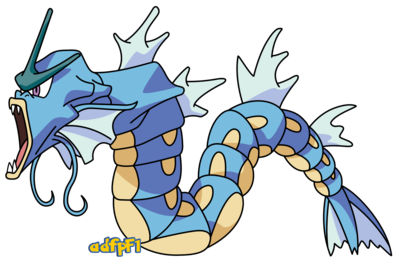 Charizard vector gyarados. By adfpf on