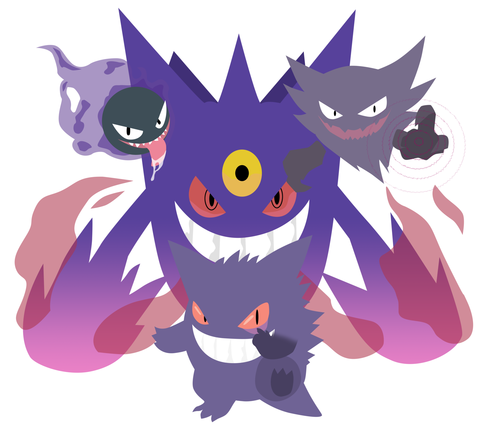 haunter drawing shiny gastly