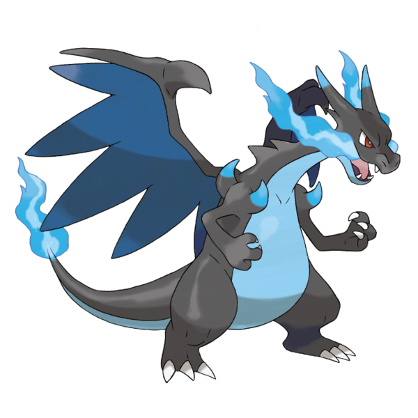 Charizard vector pokemon black and white. Mega x pok mon