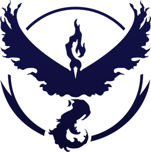 Charizard vector team valor. Pokemon go logo ai