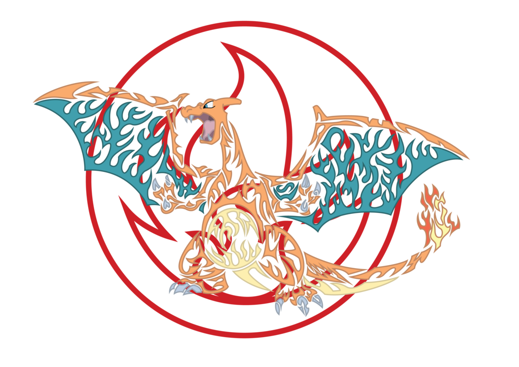 Charizard vector tribal. By r on deviantart
