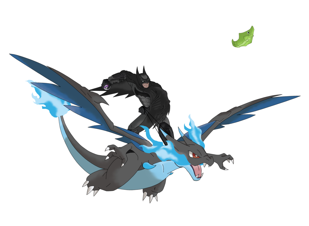 Batman and his know. Charizard x png clip black and white stock