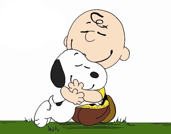 Hugging by bradsnoopy on. Charlie brown and snoopy png clip library stock