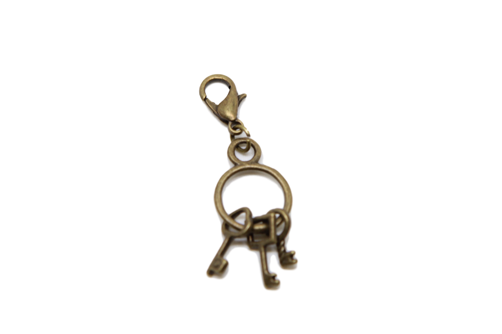 Bronze key charm on. Charms clip bead clip art royalty free
