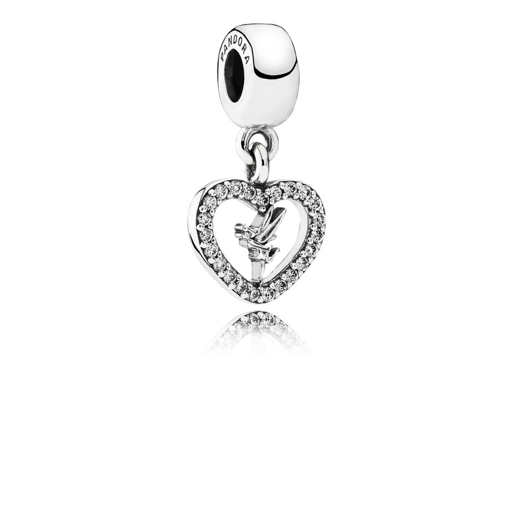 Charms clip watch. Disney love tinker bell