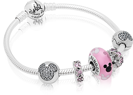 Charm clip bracelet. Exclusive pandora charms from