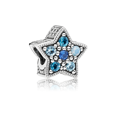 Charm clip bright star. Multi colored crystals nsbmx