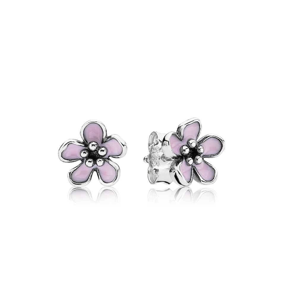 Charms clip cherry blossom. These small enamel floral