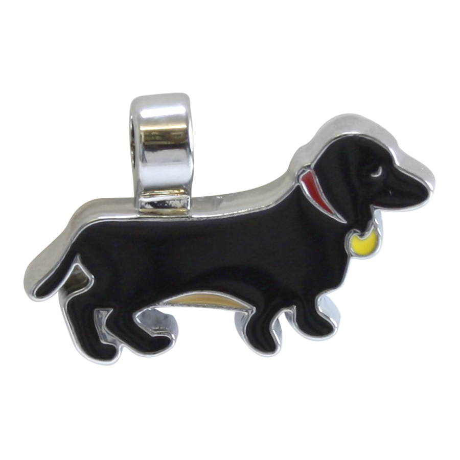 Charm clip sausage dog. We love this by