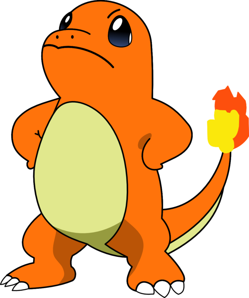 Charmander vector mad. Proud by kol on