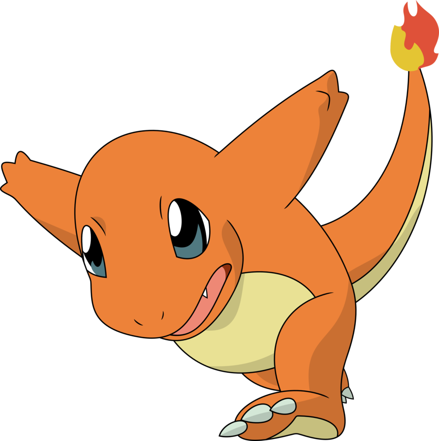 Charmander vector transparent. Charge by porygon z