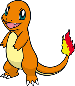 Charmander vector. Logo ai free download
