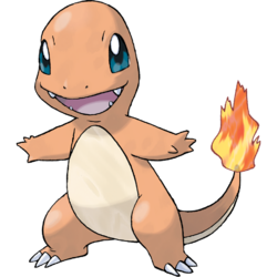 Charmander vector behind. Analise pok mon and