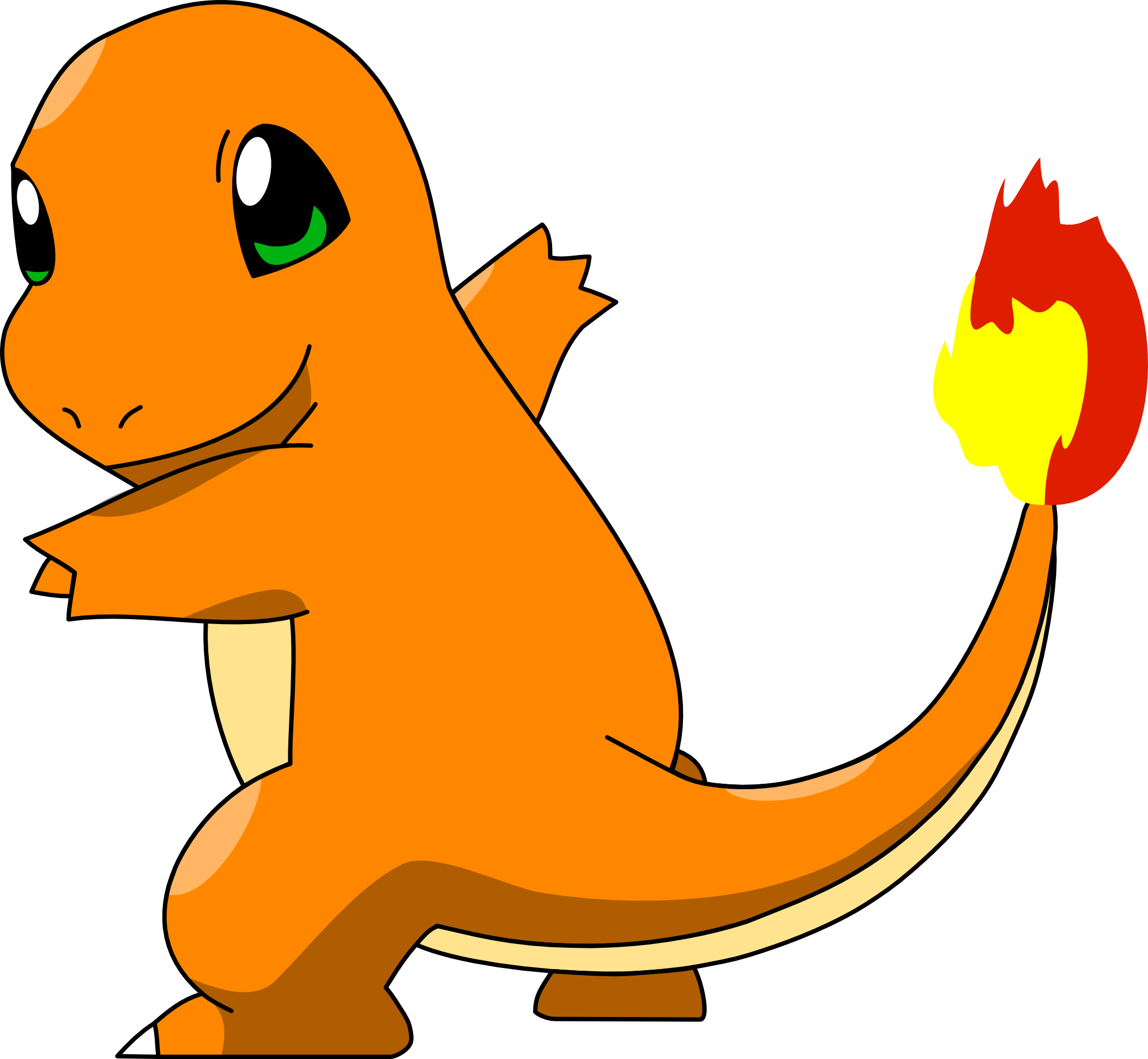 Charmander vector buff. By mighty on deviantart
