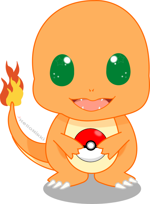Charmander vector moving picture. Chibi by xhellonikkix on