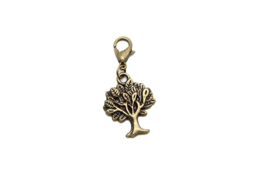 Charms clip. Tree bronze charm on