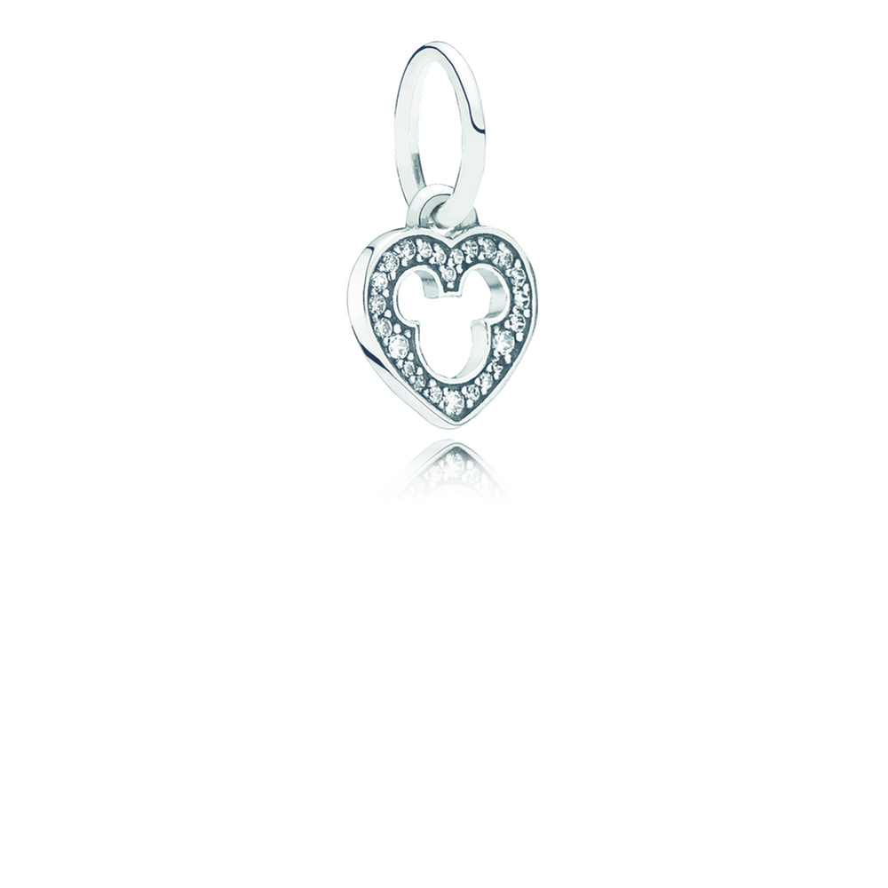 Charms clip bell. Disney mickey silhouette dangle