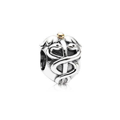 Charms clip two tone. Pandora has sterling silver