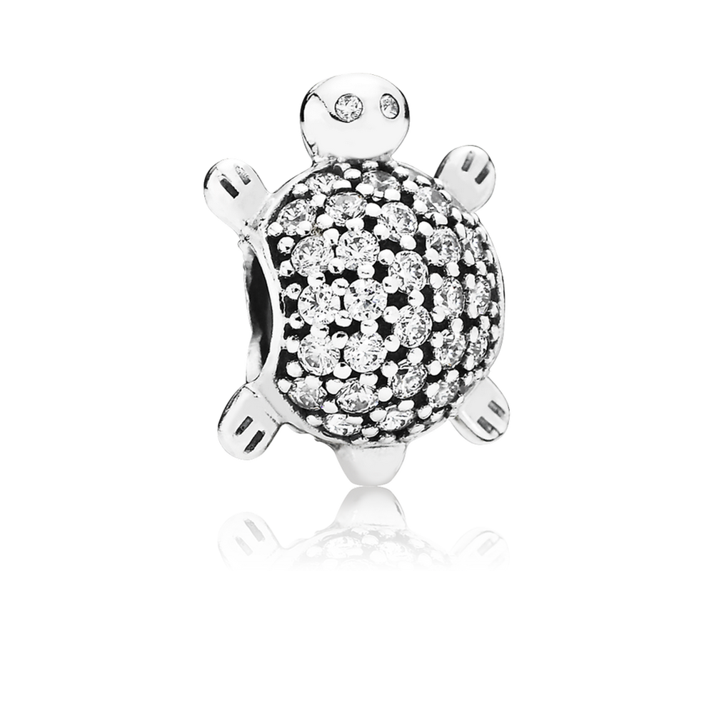 Charms clip watch. Sea turtle charm clear