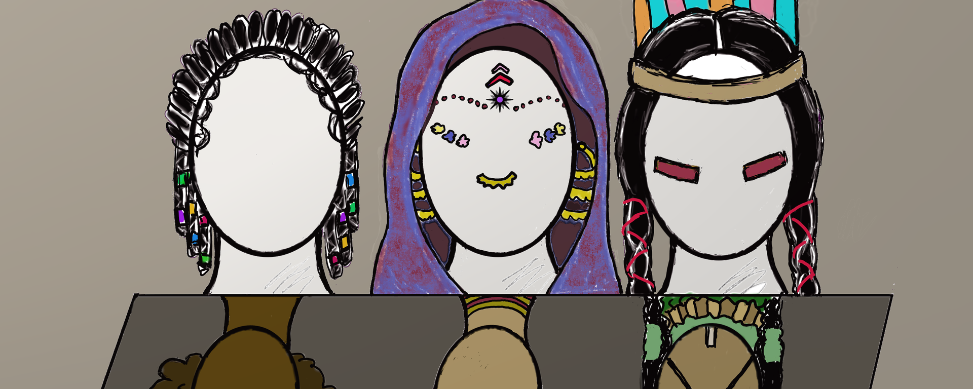 Charra drawing culture hispanic. Appreciation vs appropriation mexican