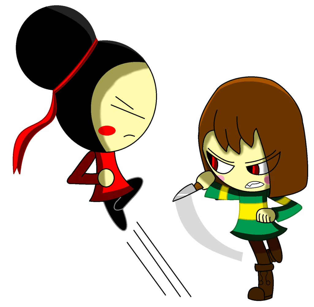 Charra drawing day the dead. Pucca vs chara undertale