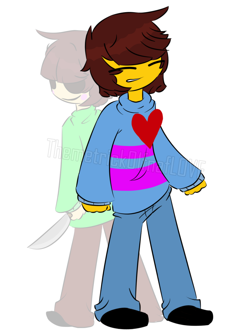 Charra drawing female. Frisk and chara undertale