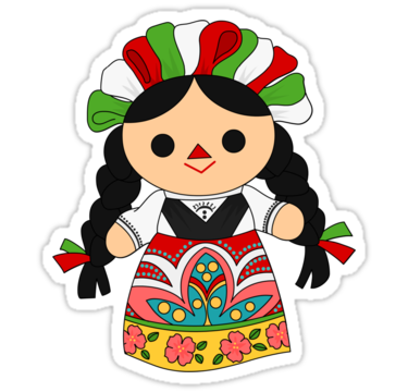 Charra drawing girl gangster mexican. Maria doll sticker by