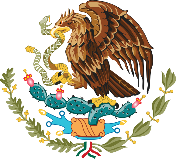 Charra drawing heritage mexican. Coat of arms mexico