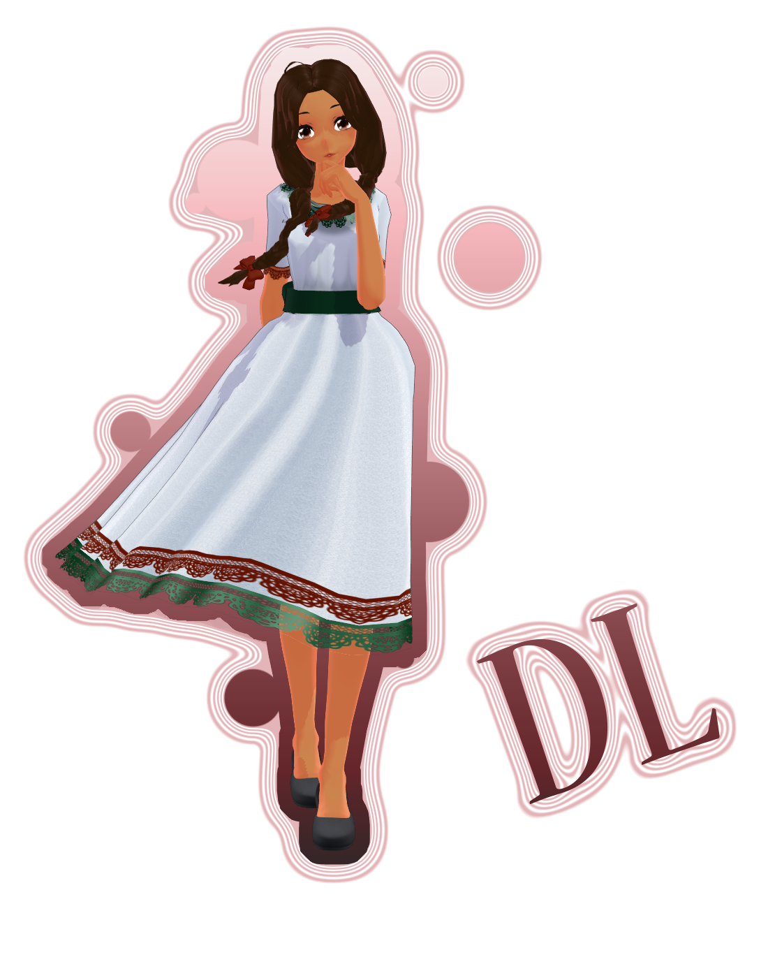 Charra drawing hispanic girl. Aph oc mexico mmd