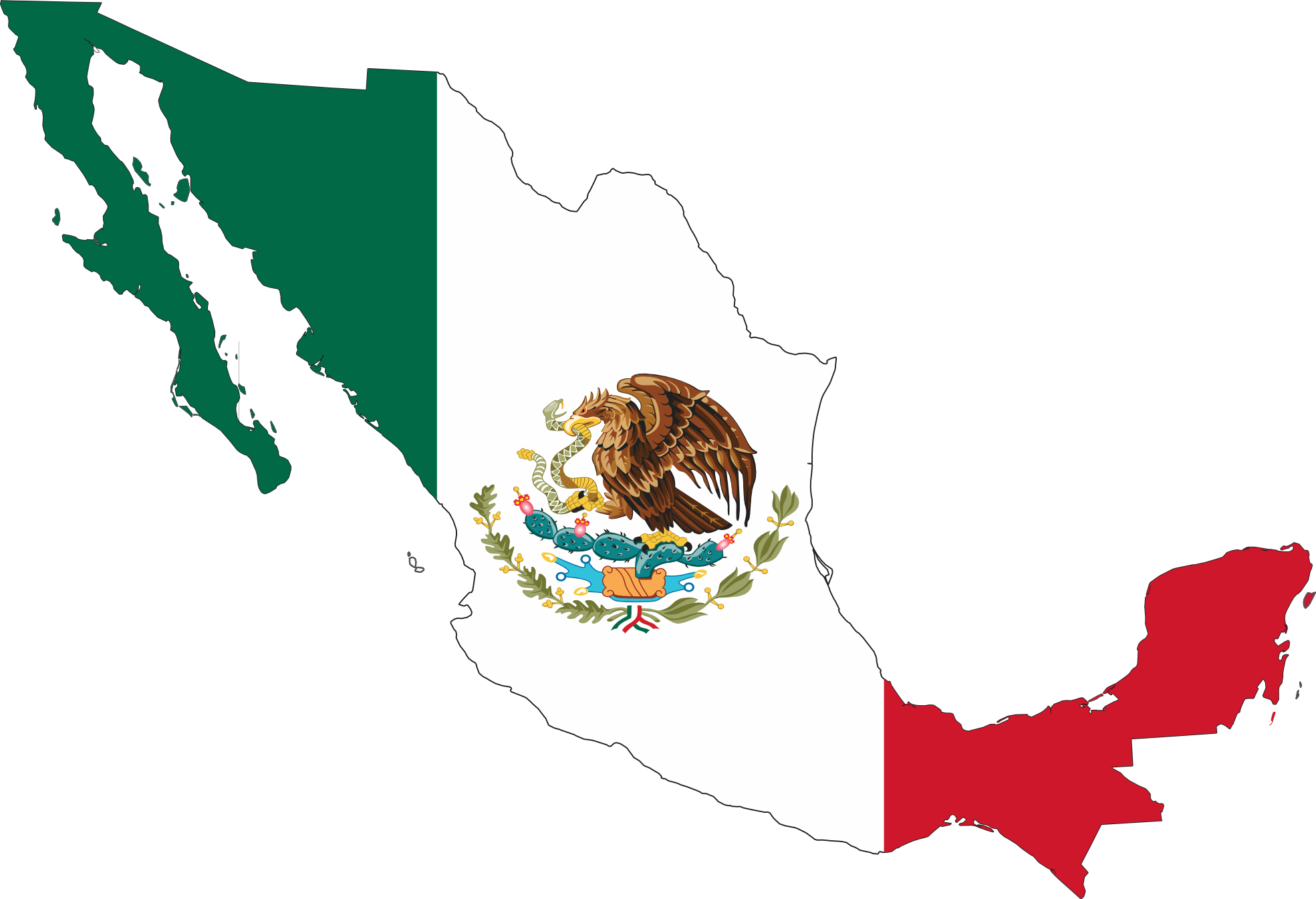 Charra drawing mexican. Mexico flag drawings map