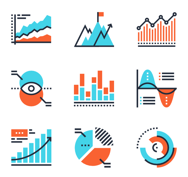 Chart icons png. Free vector charts and