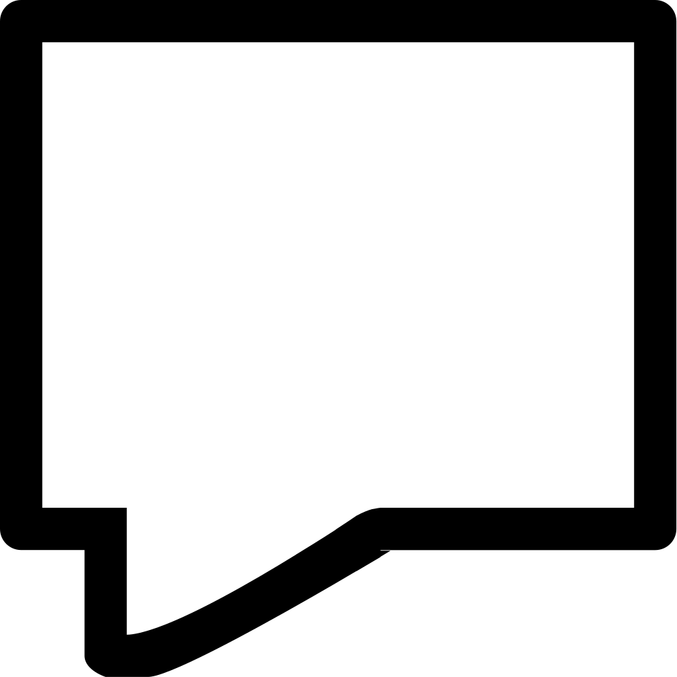 White rectangle png outline. Chat speech bubble of