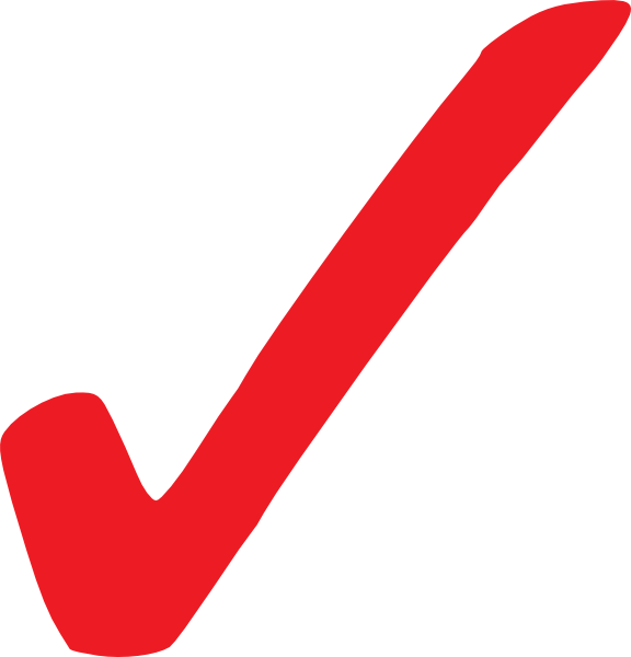 Check clipart clear. Simple red checkmark clip