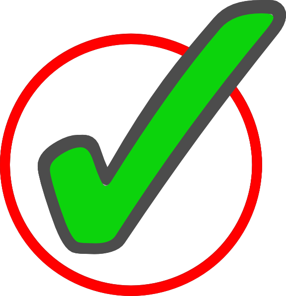 Check clipart png. Green mark in circle