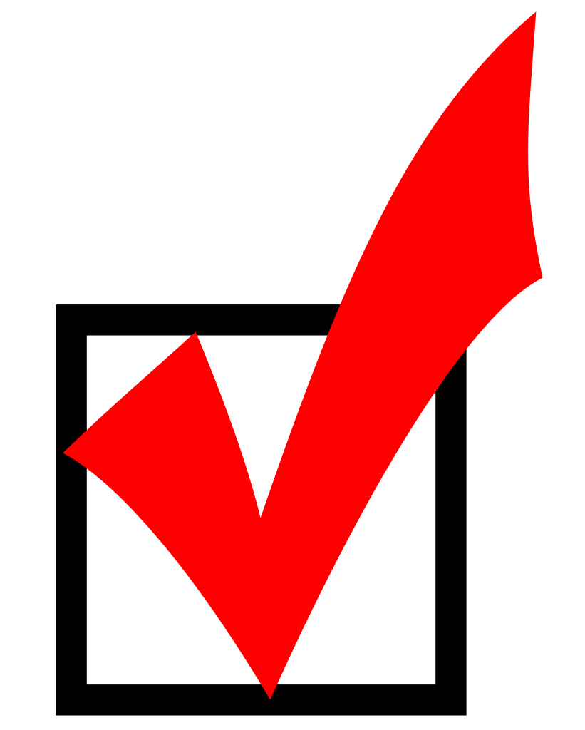 Check mark box png. File red checkmark svg