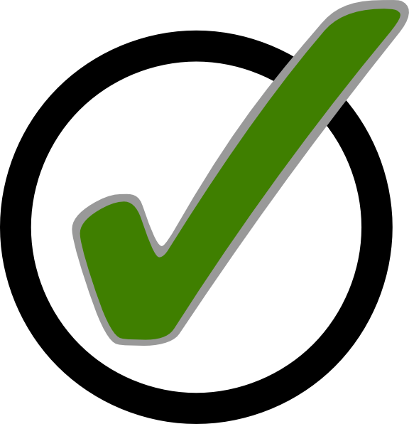 Checkmark green png. Check mark in circle