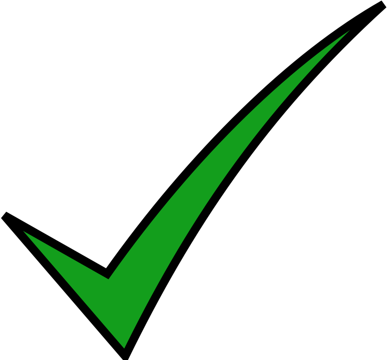 Check mark icon free. Green black png royalty free