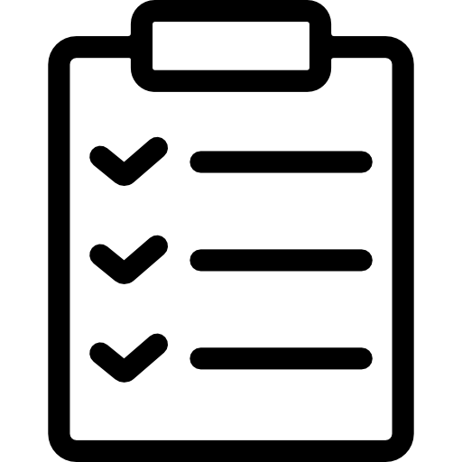Transparent clipboard ico. With check marks free