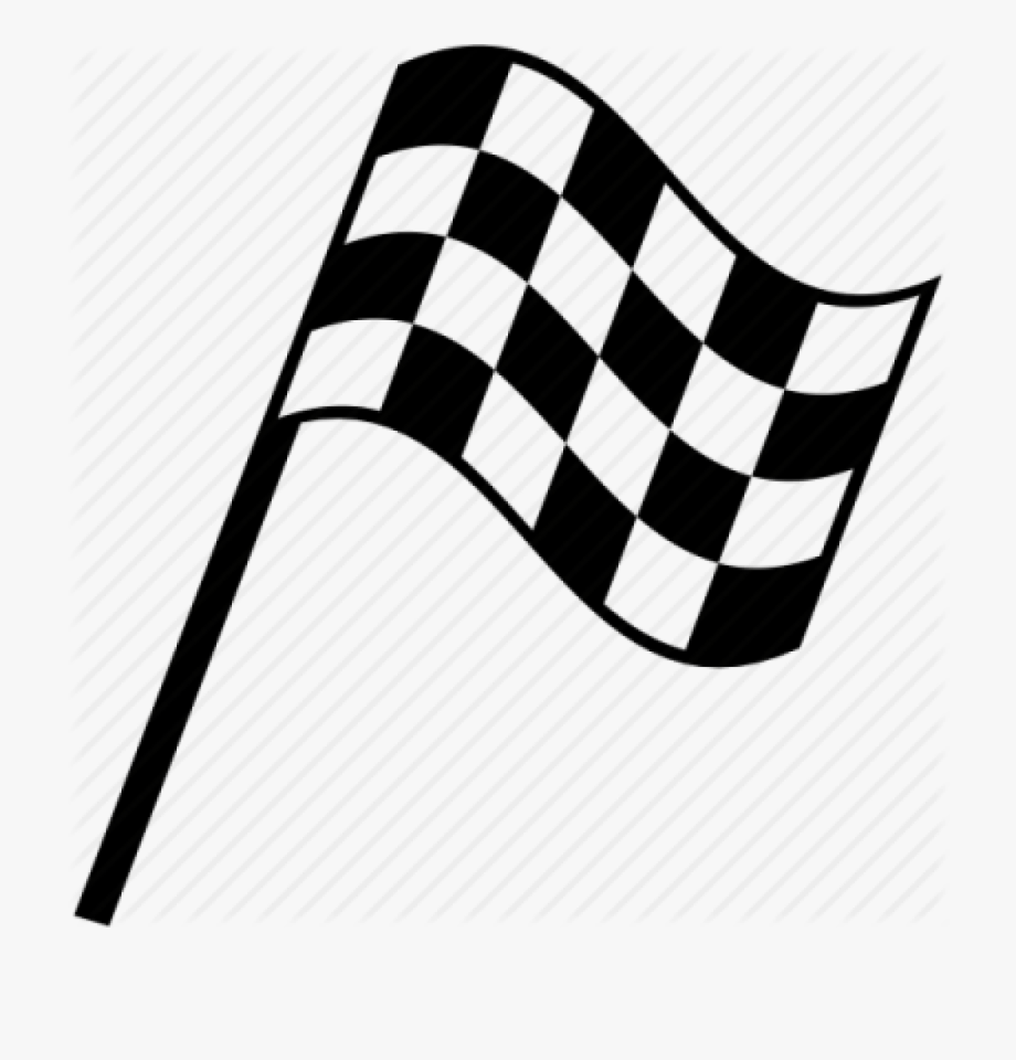 Checker flag. Checkered drawing race transparent