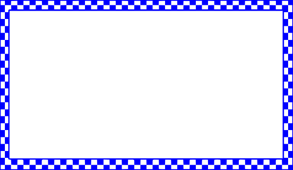 Checker vector blue. Checkered border clip art