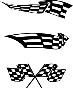 Checker vector checkered flag. Flags clip art at