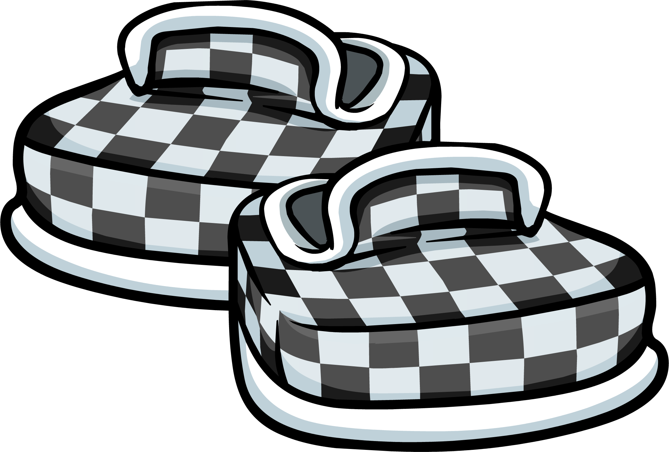 Checkered clipart checkered floor. Black shoes club penguin