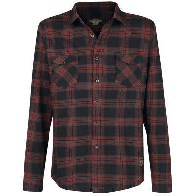 Checkered drawing checked shirt. Shirts dominator flannel workshirt