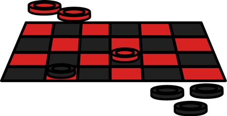 Checker vector board. Collection of free draughts