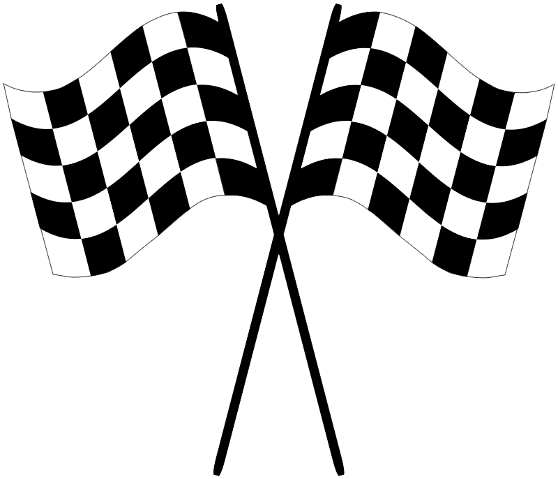 Checkered drawing race flag. Transparent encode clipart to