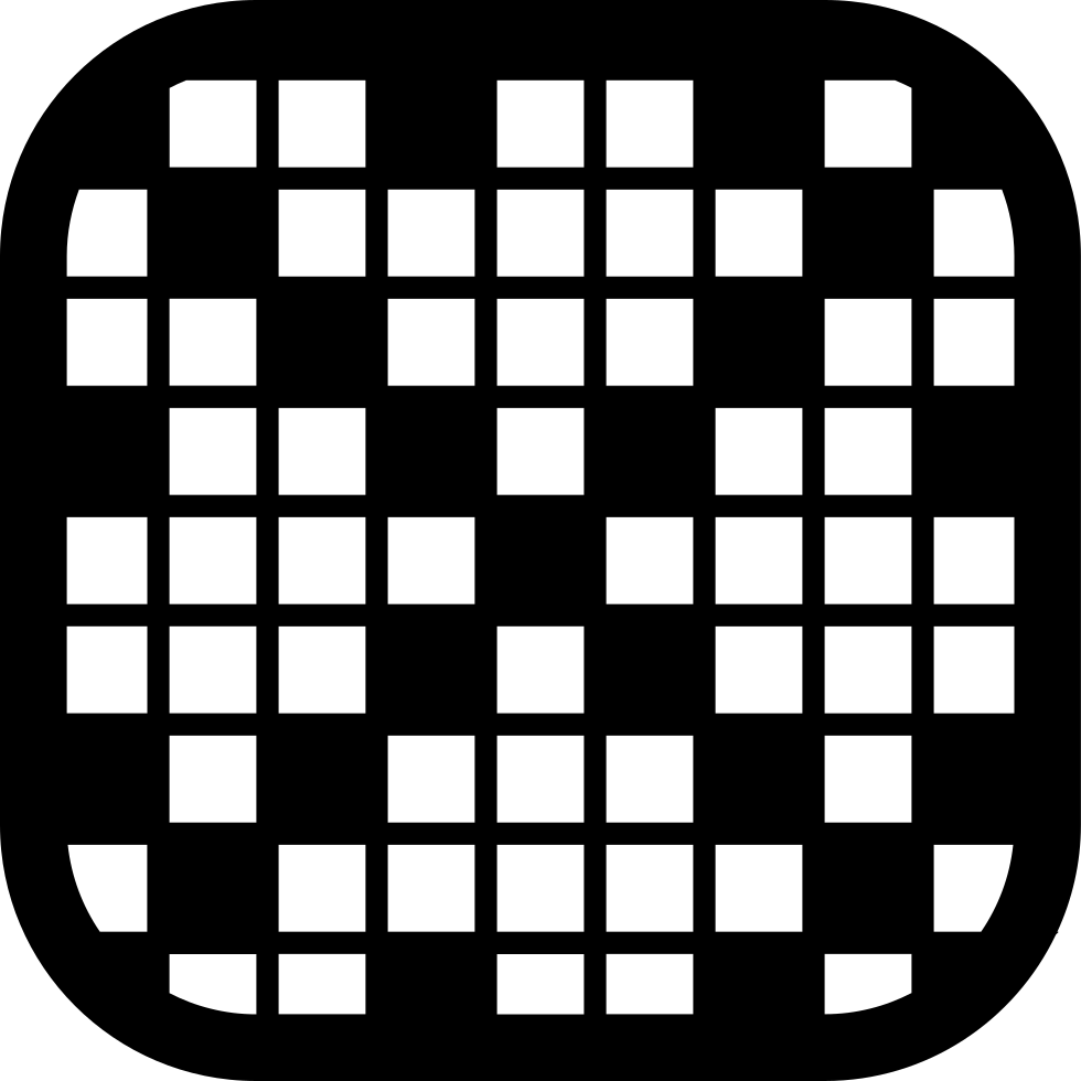 Checkered drawing square. Scrabble rounded svg png
